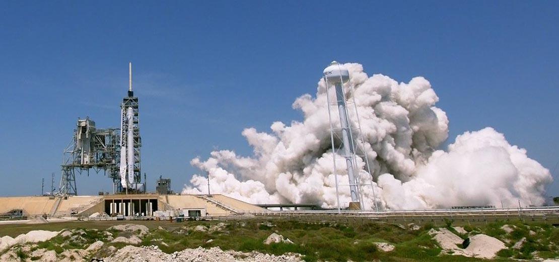 Static rocket test starts vegetation fire at Kennedy Space Center