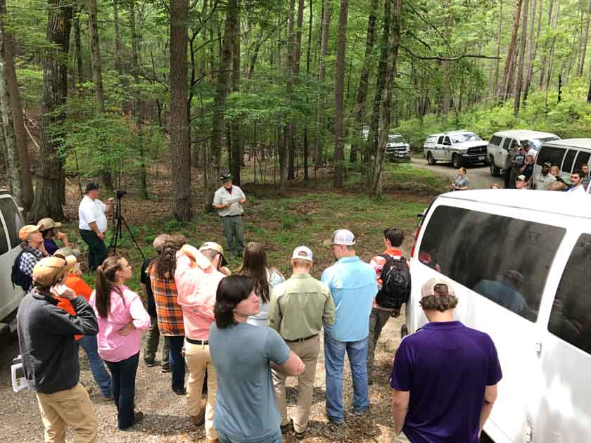 District Fire Management Officer Jeff Schardt Talks To The Group At The Rough Ridge Fire