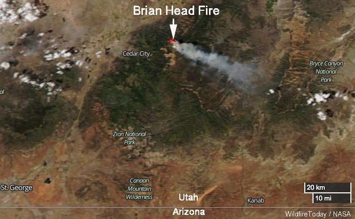 Brian Head Fire map