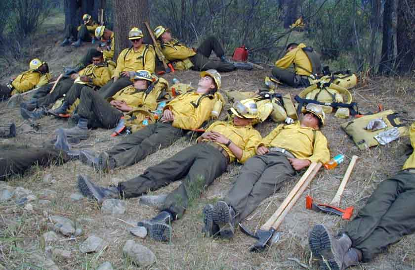 Tired Firefighters