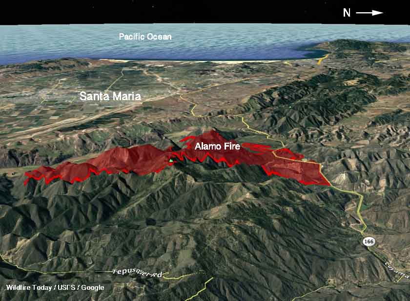 Alamo Fire burns 19,000 acres east of Santa Maria, California