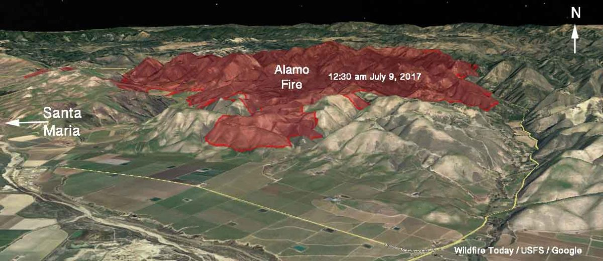 Alamo Fire  grows to 23,000 acres near Santa Maria, California