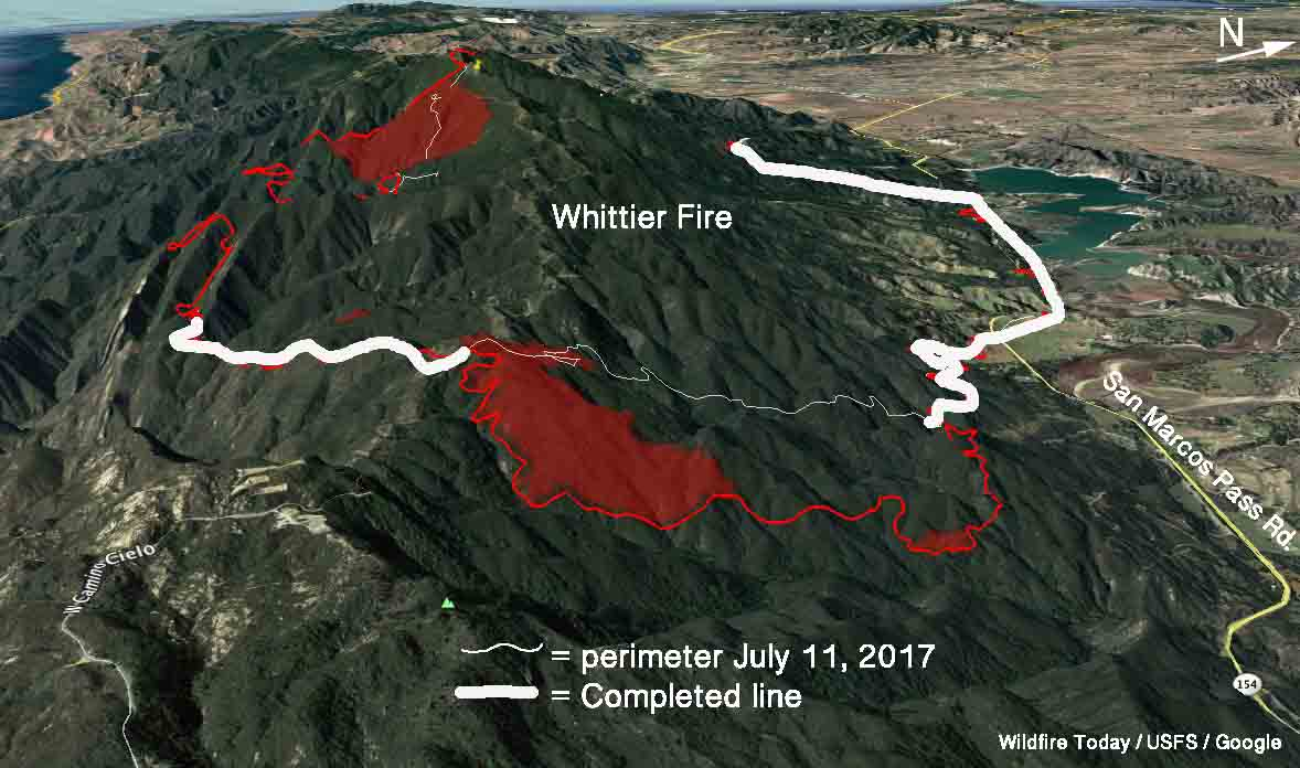 Firefighters concerned about possible sundowner winds on Whittier Fire