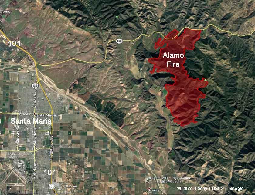 map Alamo Fire