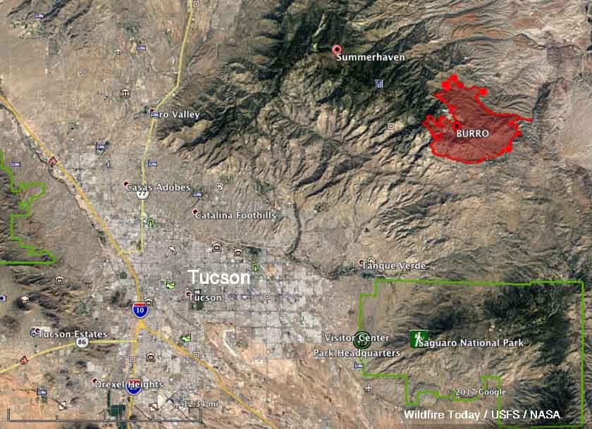 Map Burro Fire