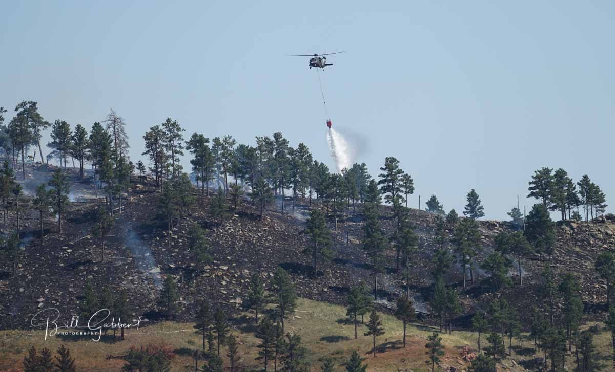 Chilson Fire burns several dozen acres in Black Hills