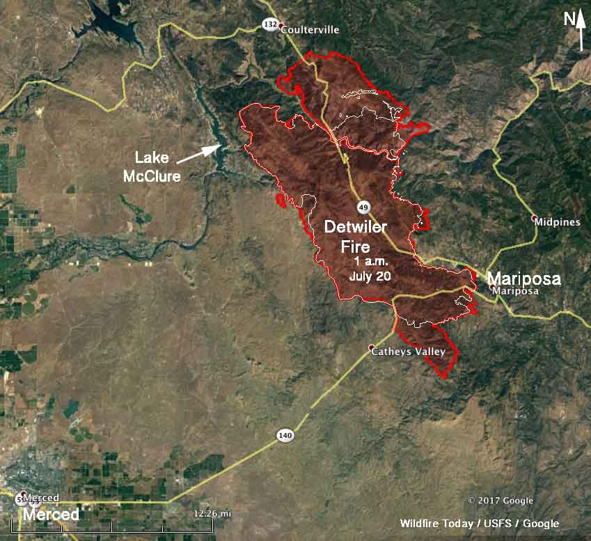 Map Detwiler Fire