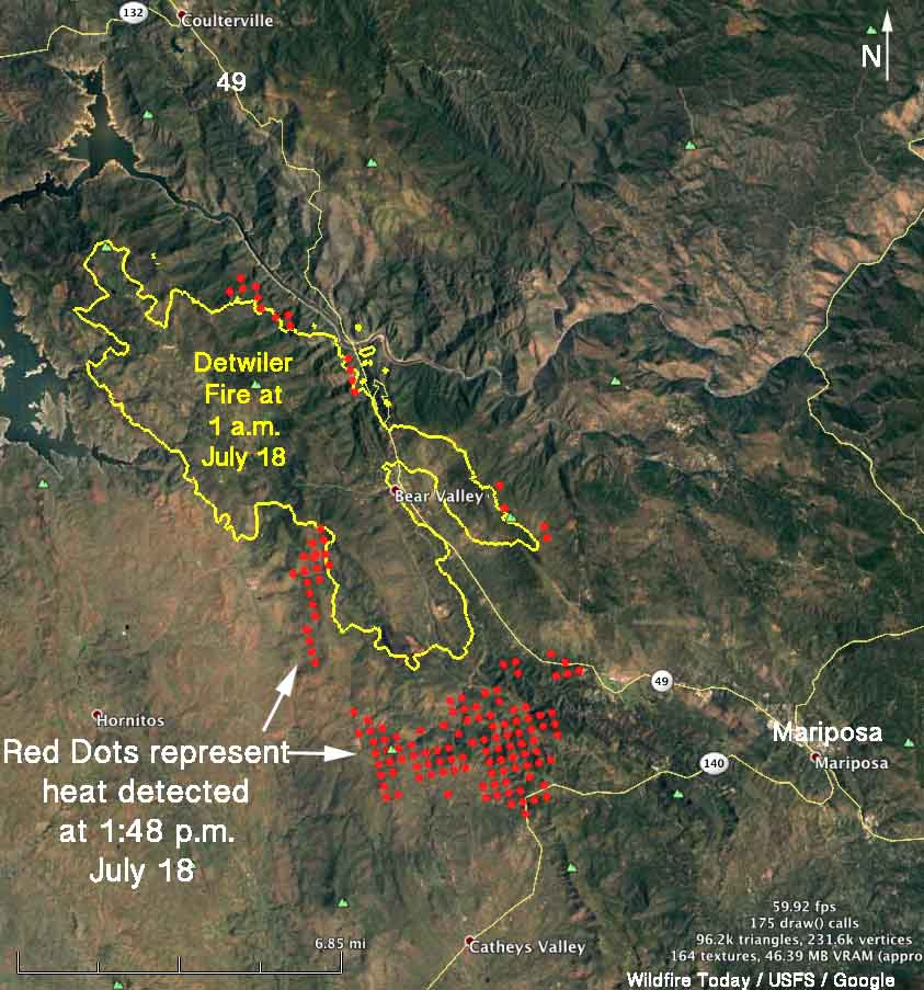 Detwiler Fire spreads quickly, causes evacuation of Mariposa
