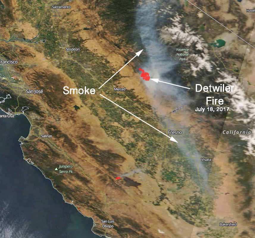 Satellite Photo Of Detwiler Fire Wildfire Today
