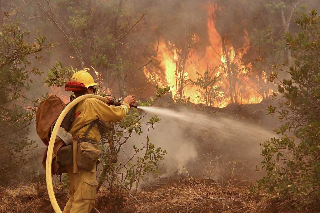 Firefighters making progress on Detwiler Fire