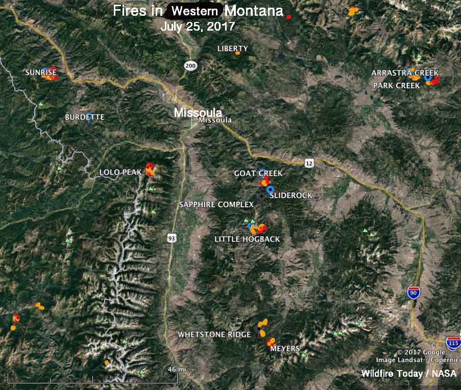 Large Wildfire Map.Buffalo Fire Archives Wildfire Today