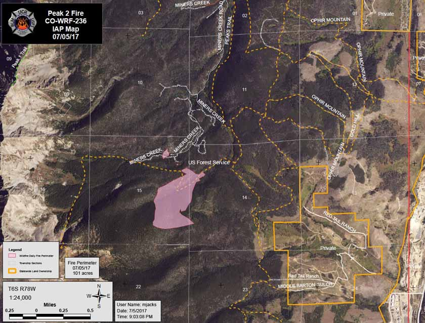 Peak Fire Map.Peak 2 Fire Archives Wildfire Today
