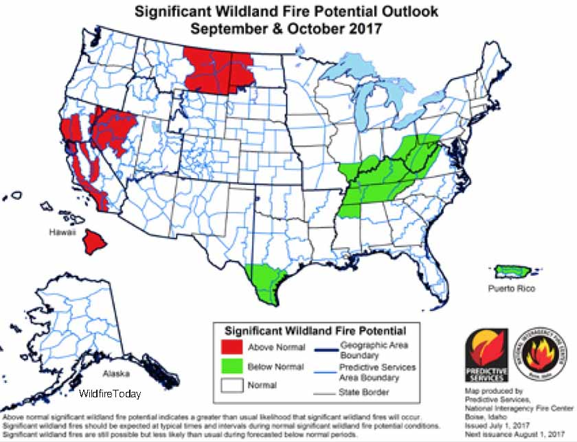 wildfire potential September October