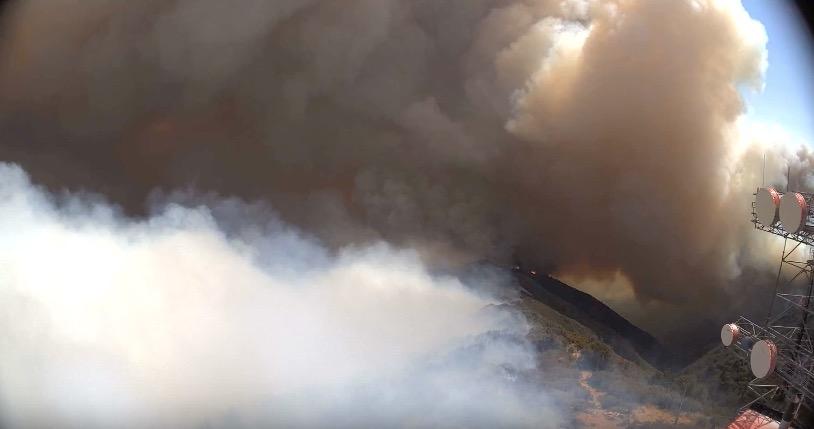 Whittier Fire Santa Ynez Peak
