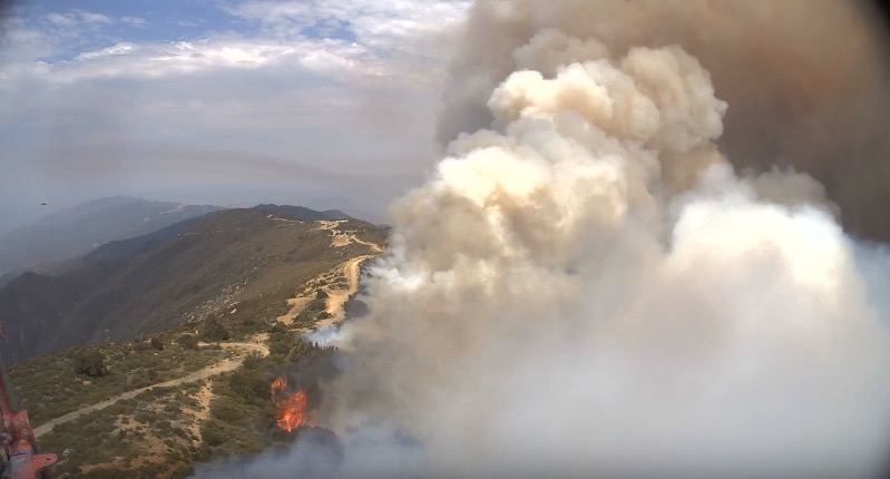 Whittier fire burns structures and forces evacuations northwest of Goleta, CA