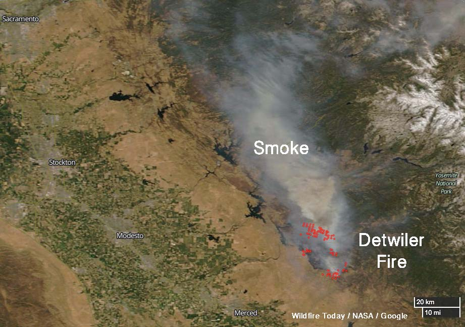 Detwiler Fire NASA satellite photograph