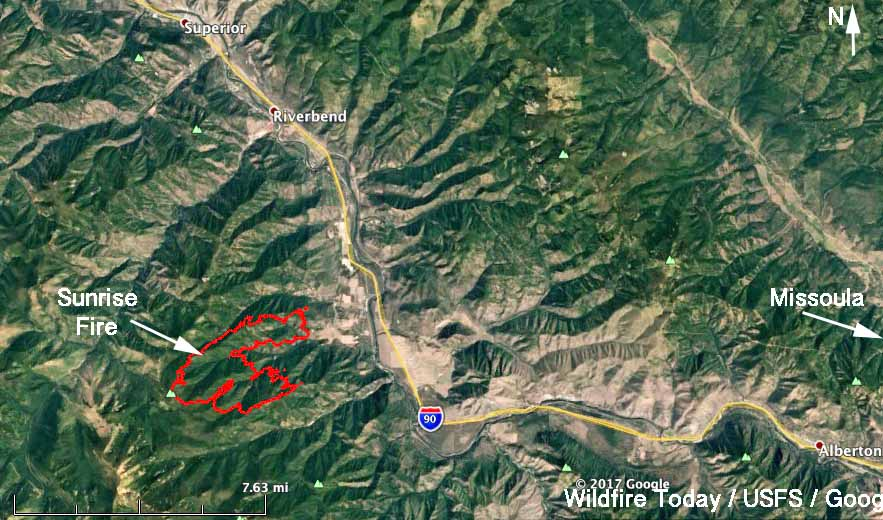 Evacuations Ordered For The Sunrise Fire In Western Montana - Map of western montana