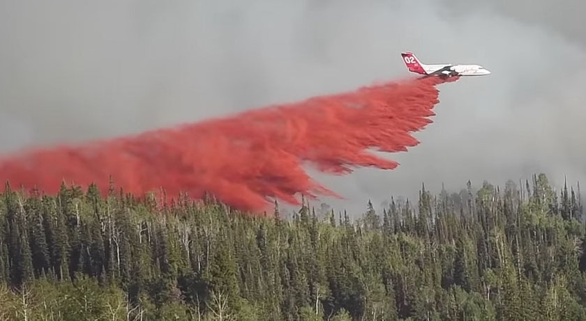 Mill Creek Fire Colorado air tanker 02