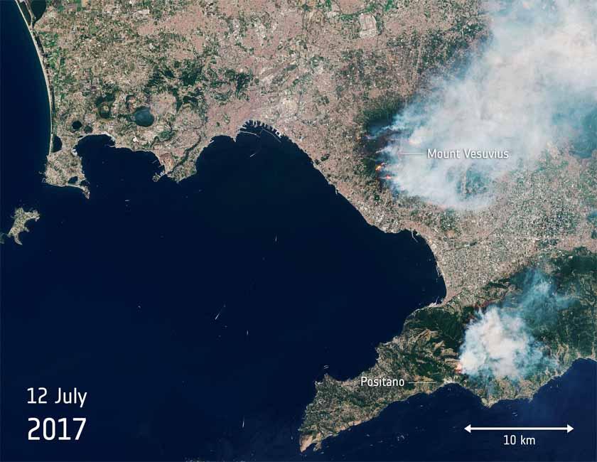 wildfires Mount Vesuvius