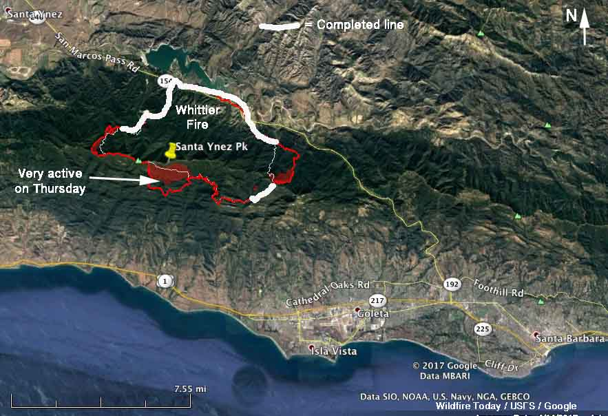 Santa Barbara Fire Map 2017 California Archives   Page 69 of 164   Wildfire Today