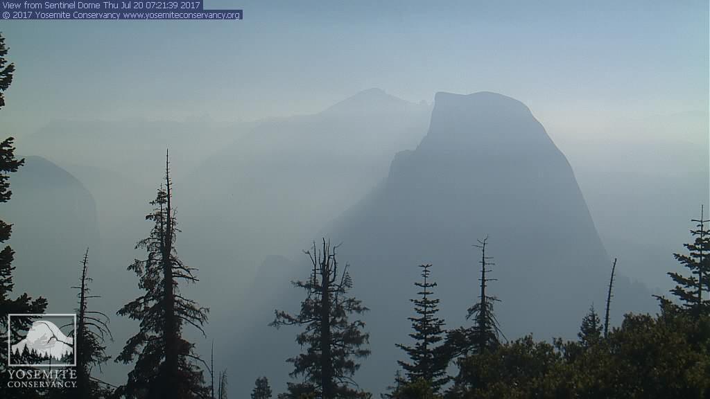 smoke Yosemite visibility