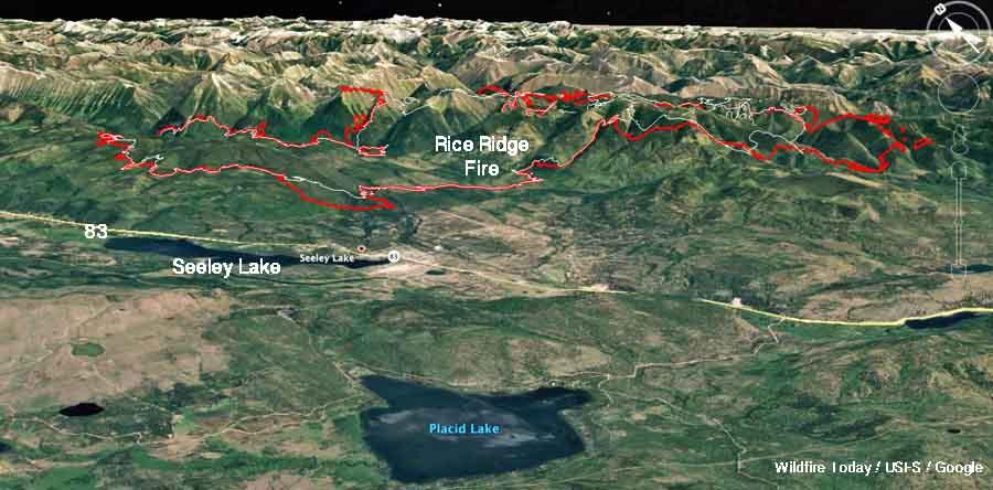 Rice Ridge Fire forces evacuations at Seeley Lake, Montana