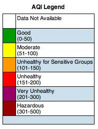 Air Quality Index Legend