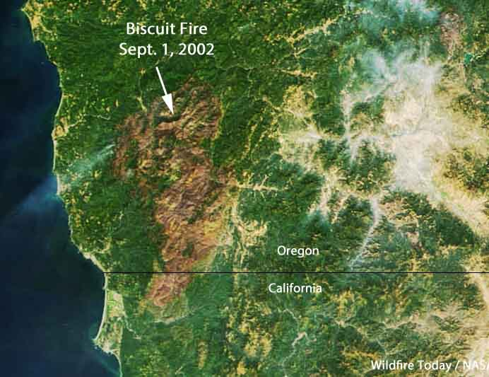 satellite photo Biscuit Fire