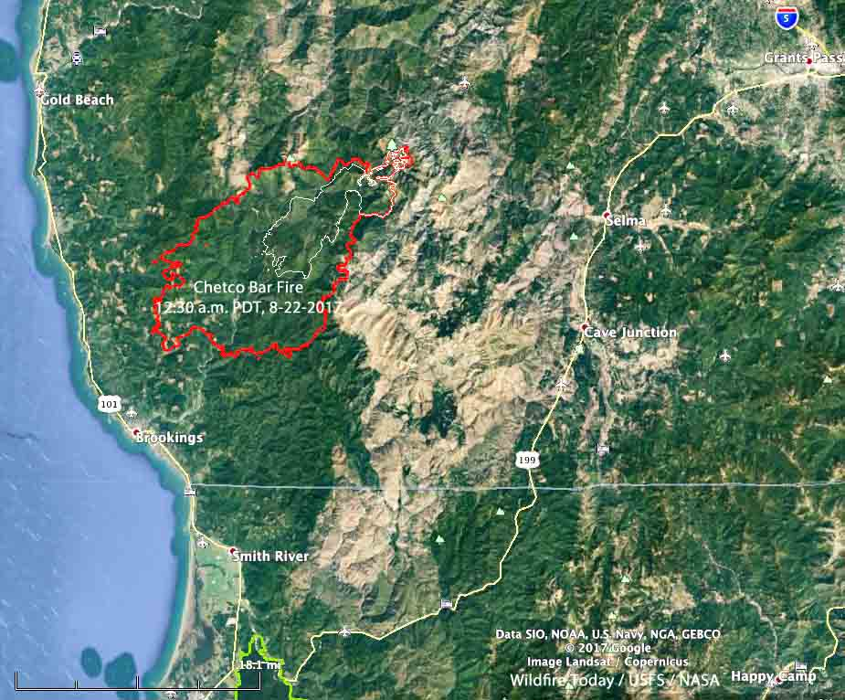 map Chetco Bar Fire