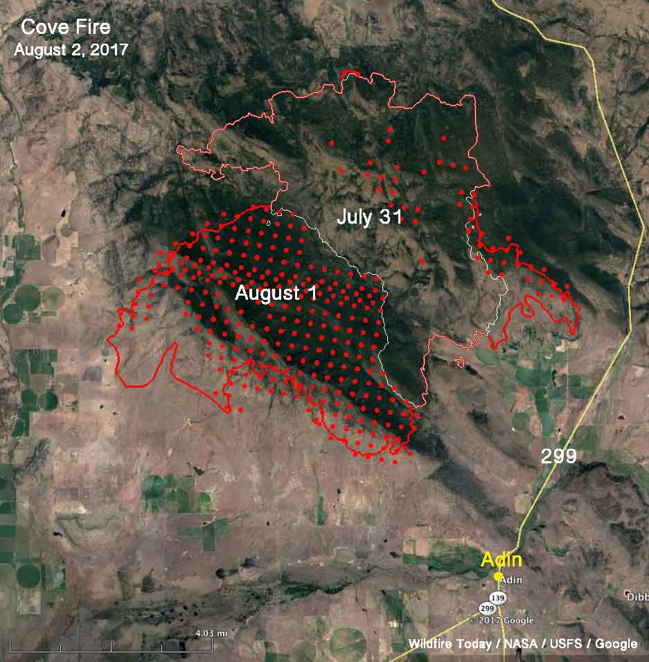 Cove Fire map