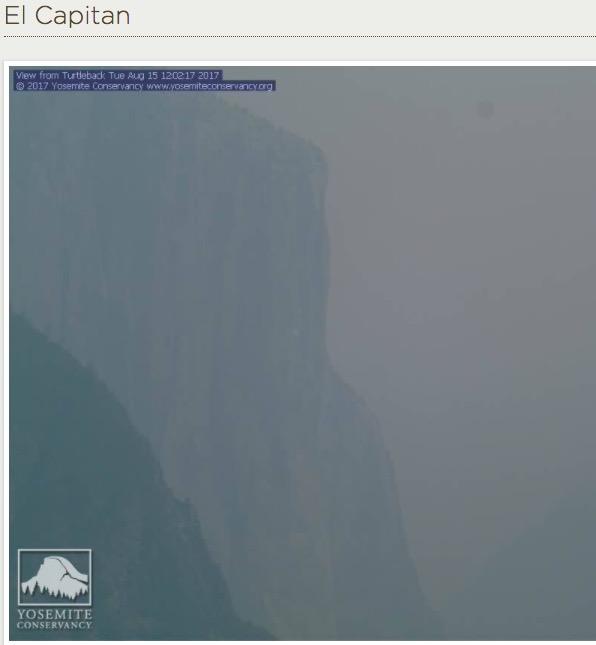 visibility in Yosemite National Park El Capitan