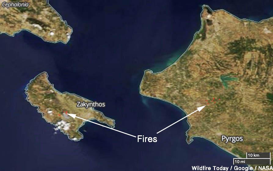 wildfire greece Zakynthos Pyrgos