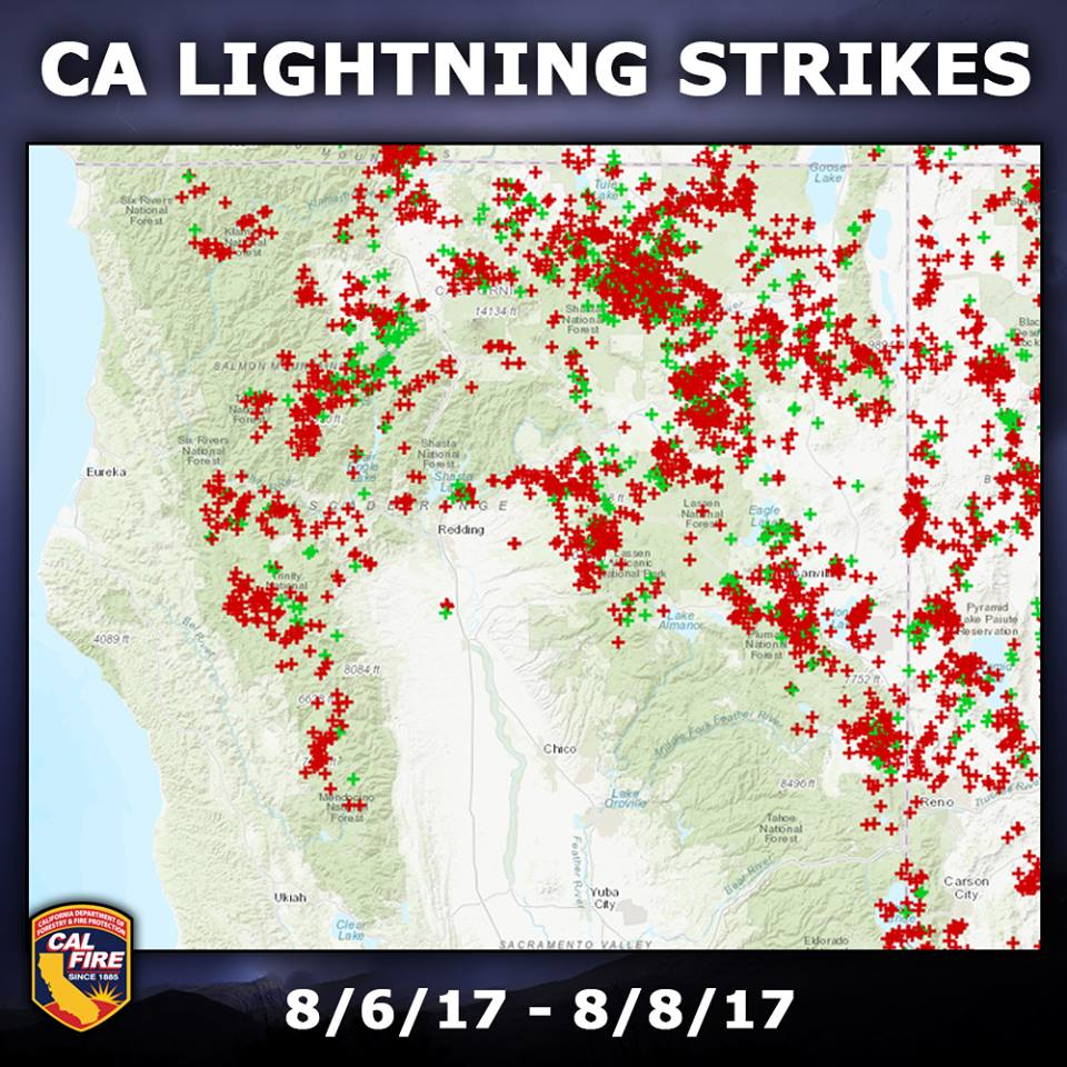 Lightning northern california