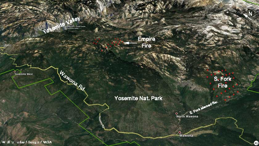 South Fork Fire map empire