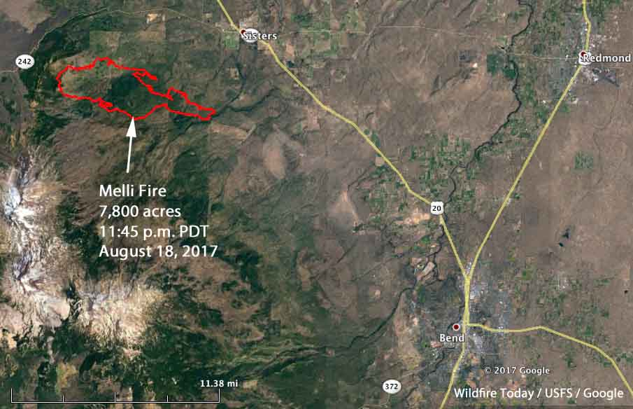 Map of the Milli Fire