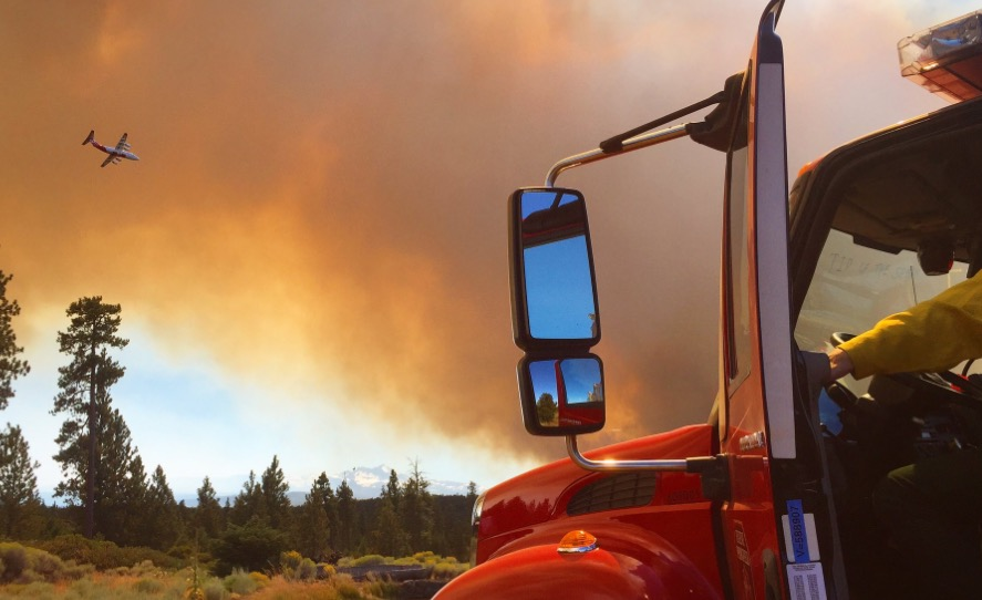 Milli Fire mapped at 7,800 acres southwest of Sisters, Oregon