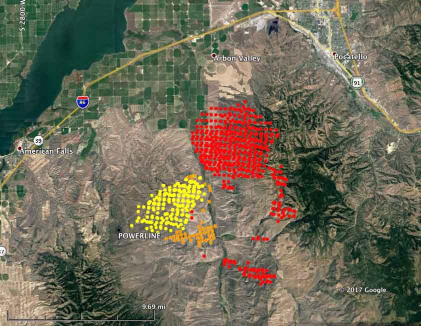 map powerline fire