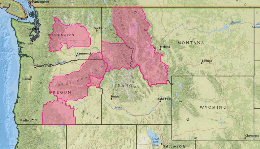 Red Flag Warnings and air quality in the Northwest, August 12, 2017