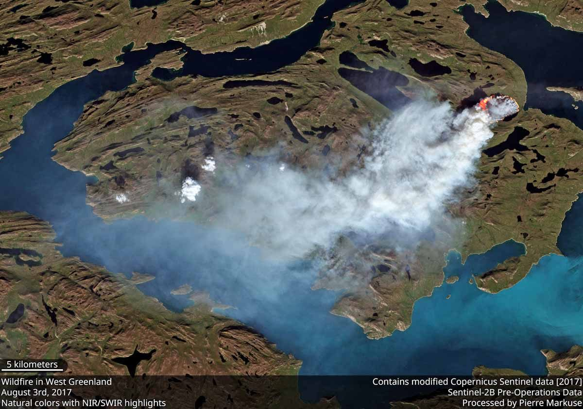 Wildfires are burning in Greenland