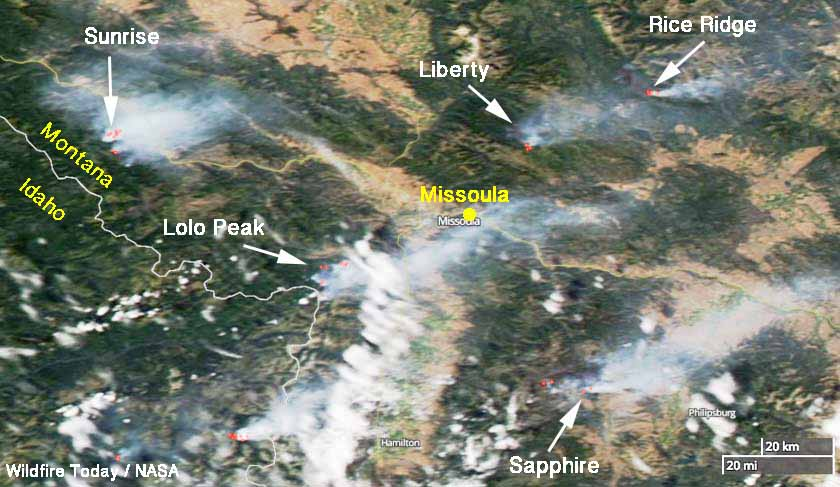 Dozens Of Active Wildfires In The Northwest US Wildfire Today - Missoula mt us map