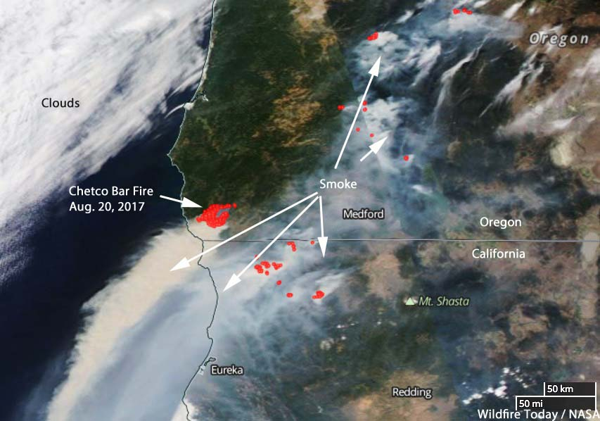 Chetco Bar Fire satellite photo