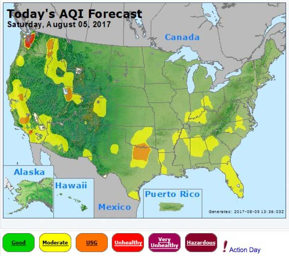 air quality Wildfire Today