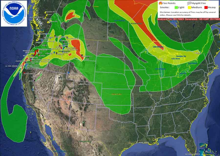 Wildfire Smoke Map August Wildfire Today - Map of fires in southeast us