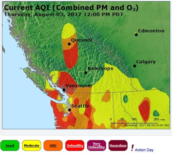 air quality smoke west canada