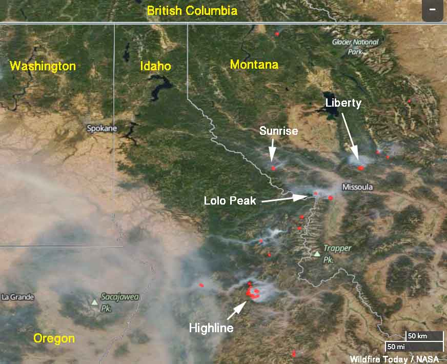 Current Fires In Montana Map.Sunrise Fire Archives Wildfire Today