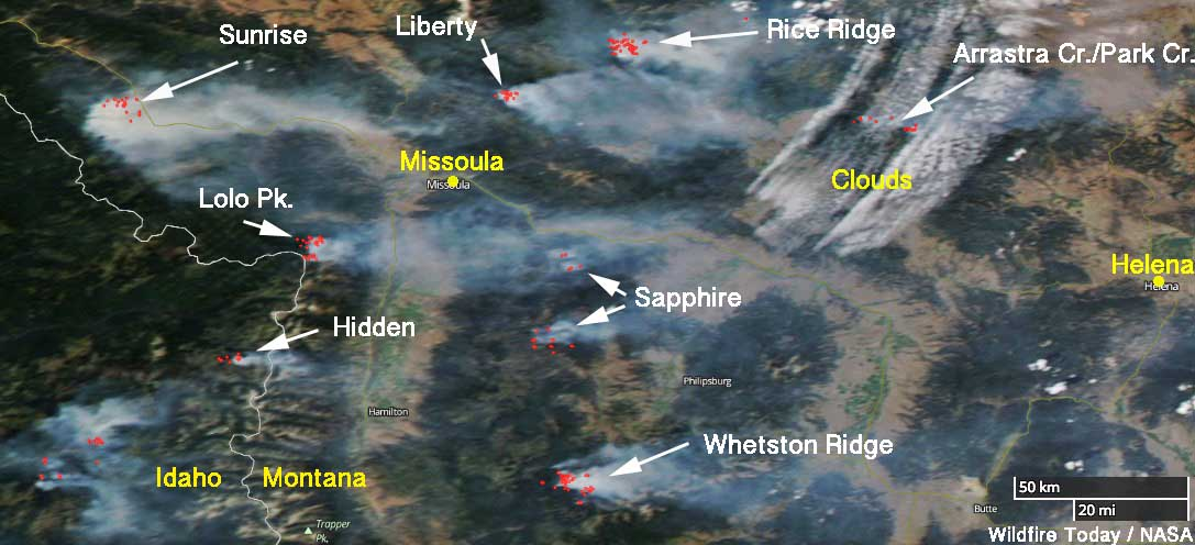 Fires In Western Montana Still Very Active Wildfire Today