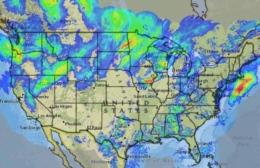 Estimated precipitation