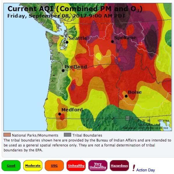 Air Quality Index fire smoke