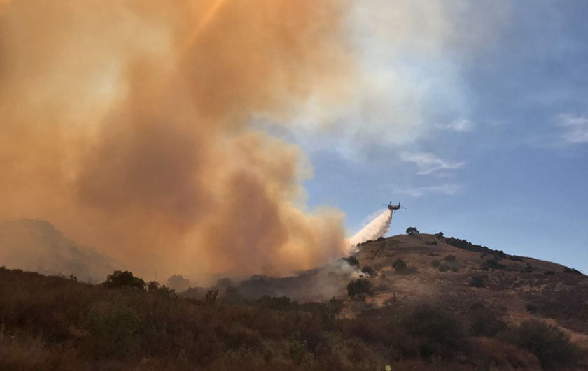 Canyon Fire helicopter drop