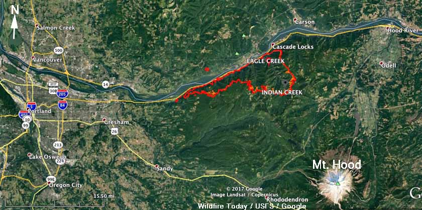 map Eagle Creek Fire